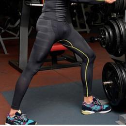 Sıcak Erkek Koşu Pantolon Katı Koşu Sportwear Atletik Pantolon Sıkıştırma Eğitim Baz Katmanlar Cilt Spor Tayt nereden