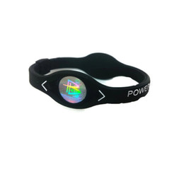 Sport magnetische armbänder online-Negative Ionen Silikon Power Energy Armband Sport Armbänder Balance Ion Magnetic Therapy gute Elastizität Mode Durable # 323821