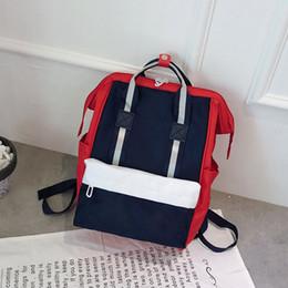 mochilas blancas para mujer Rebajas 2019 Nuevo Proof Canvas Bag Para Hombre Mochila Diseñador Mujer Bolsos Adolescente Negro Blanco Azul Baloncesto Mochila Bolsas de viaje