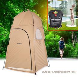 Tentes de chambre en Ligne-TOMSHOO Portable Douche En Plein Air Bain Cabine d'essayage Abri Tente Camping Plage Vie Privée Toilette 120 * 120 * 210cm MMA2133