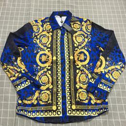 2019 estilos de vestirse caliente para hombres Venta al por mayor Nuevo estilo Royal Printing para hombre diseñador camisas de vestir moda Medusa camisa venta caliente de gama alta hombres camisa de seda estilos de vestirse caliente para hombres baratos