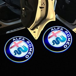 2019 toyota corolla противотуманные фары лампа 2 Шт. Для Alfa Romeo LED Двери Автомобиля Добро пожаловать Свет Проектор Логотип Джулия Джульетта Мито Стельвио Брера 147 156 159