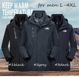 The North Luxus Windjacke Zwei Stücke Im Freien Jacke 2 in 1 Winter Mantel mit warmem Fleece Innenwindsicher Kapuzenjacke Gesicht Parka C121106
