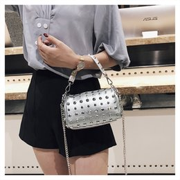 fashion trends handbags Promo Codes - luxury Messenger bag ladies handbag female designer shoulder bag rivet clutch bag fashion handbag trend brand Packag