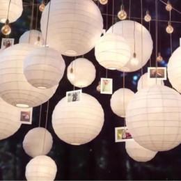 2019 bonecos de bateria 30 pçs / lote Mix Tamanho (20 cm, 30 cm, 35 cm, 40 cm) Lanternas de Papel Branco Chinês Paper Ball Lampion Para Festa de Casamento Decoração Do Feriado