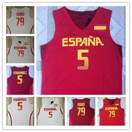 2019 camiseta de baloncesto 4xl Juegos Olímpicos 2016 Rio ESPAÑA 5 RUDY FERNANDEZ 79 rubio JERSEY DE BALONCESTO EUROBASKET Camisetas de baloncesto cosidas camiseta de baloncesto 4xl baratos