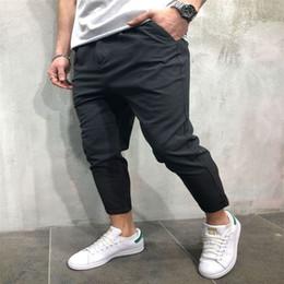 pantalón de estilo urbano Rebajas 2018 New Style Fashion Hot Solid Urban Men Straight Casual Pencil con pantalones de bolsillo Slim Fit Pantalones Outwear