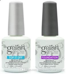 Top Quality Soak Off Unhas de Gel Polonês Para Nail Art Gel Laca Levou / uv Harmony Gelish Base Coat Fundação Top coat de