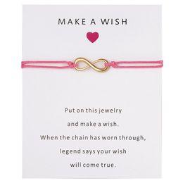 Encantos de buena suerte envío gratis online-Pide un deseo Infinite Logo Bracelet Women Men Good Luck Charm Bracelet Wholesale Bracelets Envío gratis