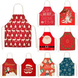 lampade di riso Sconti HUIRAN Natale Grembiule Buon Decorazioni di Natale per la casa 2019 le decorazioni di Natale Cucina di Natale Decor Capodanno 2020