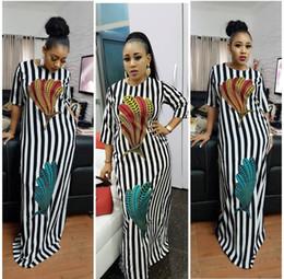 Vestidos de coctel coloridos más tamaño online-Envío libre más el tamaño del vestido de manga corta de colores de plumas de impresión vestido de la raya vestidos de mujer cóctel noche de fiesta vestido ocasional
