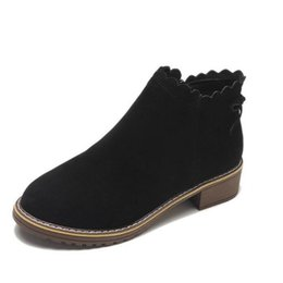 9d40bb16ee9 New fashion women s Martin boots autumn and winter classic zipper bow ankle  boots frosted warm plush shoes EZ447