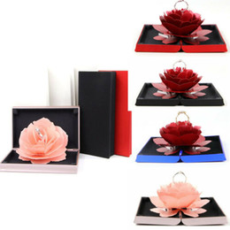 3D Pop Up Rose Ring Box Boda Compromiso Joyería Almacenamiento Holder Case Bump desde fabricantes