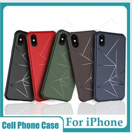 Геометрические ТПУ сотовый телефон чехол автомобиля магнитный Shcokproof защитная крышка корпуса для iPhone X XR XS Max 7 8 6 S plus Samsung от