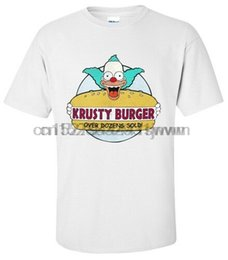 Burgerhemd online-SHIRT KRUSTY DER CLOWN KRUSTY BURGER T-Shirt SMALLMEDIUMLARGEXL