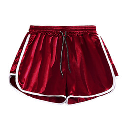 black ladies hot pant Promo Codes - Hot Ladies Shorts Summer Running Gym Shorts Women Casual Loose Elastic Waist Slimsexy Red Black Short Pants Spodenki Damskie
