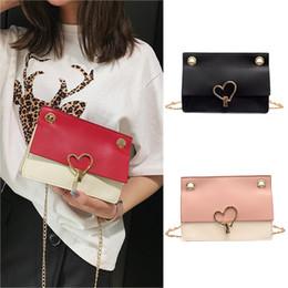 bolsas coreanas de bloqueo Rebajas Mujeres Love Lock Buckle Messenger Bag Simple Fashion bolsos pequeños para mujeres Versión coreana Small Square Bag bolsas de mujer # 35
