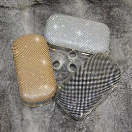 formale schwarze taschen Rabatt 2019 Bling Bling Kristall Silber / Schwarz / Gold Brauthandtaschen Mode Ring Frauen Handtaschen für besondere Partyabende Formale Anlässe