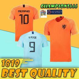 2019 Nederland soccer jersey Netherlands home away orange MEMPHIS JERSEY  ROBBEN 18 19 thai quality V.Persie Dutch football shirts 694af6da1