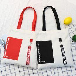 черный холст totes Скидка Туманный Black Beauty Red Ribbon Магазины Эко сумка Женщина Casual школа книги холщовый мешок корейский Опрятный Одиночные Totes плеча заплатки