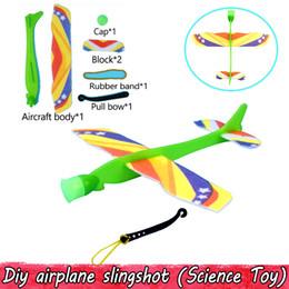 2019 brinquedos de avião para crianças Aleatória Modelos de Avião De Espuma De Slingshot Colorido Glider Avião Experimento Física Brinquedos Educativos para Crianças Jogo De Festa Ao Ar Livre desconto brinquedos de avião para crianças