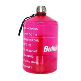 2019 botellas de agua directas deportivas BuildLife 1 galón botella de agua con el tiempo Marcador 128 onza / 73OZ / 43OZ BPA del plástico de gran capacidad jarra de agua envío