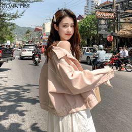Seni graziosi online-Giacche Donna Lovely Sweet Girls Studenti New Turn-down Collar Rosa Tasche Casual monopetto stile coreano 2019 Chic Solid
