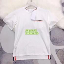 2019 bolso feito sob encomenda camisetas Moda Feminina Bolso Impressão T-shirt Da Marca Meninas Tops Vestuário Camisa High-End Personalizado Casual T-Shirt de Verão Dividir Tee bolso feito sob encomenda camisetas barato