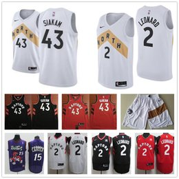 2c0b283dacd3 Pascal Raptors de Toronto Tracy Vince Kawhi de Toronto 1 McGrady 15 Carter 2  Leonard 42 camiseta de baloncesto Siakam
