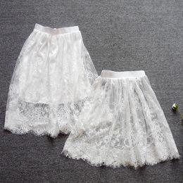 Короткая юбка петуха онлайн-Короткая кружевная сетка для ресниц полупрозрачная юбка длиной до полу, юбка осень-зима, просвечивающая нижняя юбка, полупрозрачная