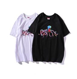 Camiseta de impresión personalizada online-Marca norteamericana Suprême camiseta para hombre nueva moda camisetas Octopus impresión en color camiseta pareja edición limitada camisetas camiseta personalizada privada