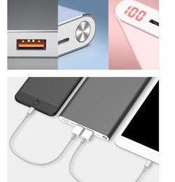 Chargeur 2usb en Ligne-Yoobao A2 Power Bank 20000mAh 2USB PowerBank Chargeur Portable Batterie Externe Poverbank Pour iPhone 7 6 X 8 Housse Xiaomi Mi batterie externe