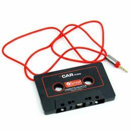 2019 adaptador jack 12v Adaptador de Cassete de Cassete de Cassete de carro Universal Mp3 Player Conversor 3.5mm Jack Plug Para iPod Para iPhone AUX Cabo CD Player adaptador jack 12v barato