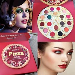 2019 maquillaje chino cosmética IMEAGO Pizza Palette 18 Color Sombra de ojos Innovación Paleta de maquillaje Pearlescent Mate Sombra de ojos Duradera Nuevas sombras desnudas