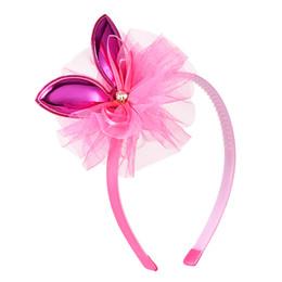 Kaninchenhaargarn online-Garn Krone Gilrs Bogen Haarbänder niedlichen Hasenohren Stirnband schöne Haarschmuck Party / Festival / Daily Headwear Kind Tiara