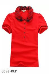 Modelos de polo on-line-O desenhador das mulheres camisetas de impressão de alta qualidade rodada designer de marca t-shirts modelos curto-mulheres camisas polo mulheres homens crianças por atacado