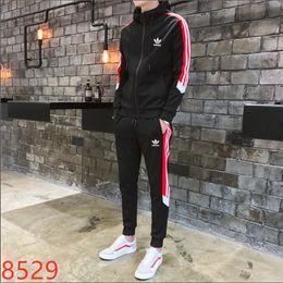 Fato de jogging para homens on-line-2019 Designer ADDIAS Camuflagem dos homens Treino Sportswear Define Ternos de Jogging Hoodies Homens Camisolas soltas Terno Mens calças Marca Pano