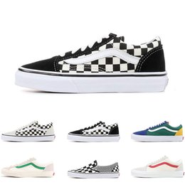 basketball shoes mix Coupons - 2019 Designer old skool MIx Checker OTW REPEAT FEAR OF GOD CHECKERBOARD canvas mens sport sneakers fashion Athleticl shoes size 36-44