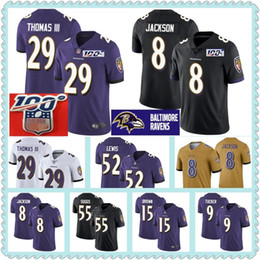 Deutschland 100. Hals Baltimore Jerseys Ravens 8 Lamar Jackson 29 Earl Thomas 9 Justin Tucker 55 Terrell Suggs 52 Ray Lewis 15 Marquise Brown Jersey cheap ray lewis jersey Versorgung