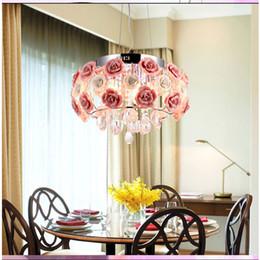 2019 lustre de cristal da flor Lâmpadas de lustre de Cristal moderna Para cozinha de Luxo quartos Do Hotel Rose flor Entry Foyer iluminação com E14 Levou lâmpada 9068 lustre de cristal da flor barato