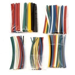 Kit de fiação elétrica on-line-140 PCS Variedade de halogênio-Free 2: 1 Heat Shrink Tubing Wire Cabo Elétrico Sleeving Wire Kit