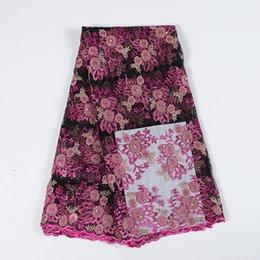 красивые ткани Скидка Оптовый африканского 3d цветка кружевной ткани вышитого тюль сетка ткань кружева красивых ткани кружевной ткань для партии bf0041