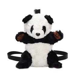 2019 neue kostenloser versand plüsch panda kinder zubehör tasche kleine tasche mädchen baby diagonale rucksack Koreanische karikaturmappe von Fabrikanten
