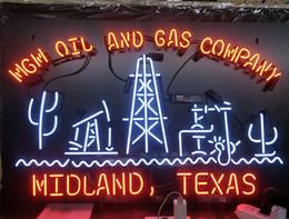 2019 unterzeichnen unternehmen Acrylplatte MGM OIL AND GAS COMPANY Leuchtreklame Wand Werbung Unterhaltung Dekoration Kunst Display Glas Lampe 17 '' 24 '' 30''40 '' rabatt unterzeichnen unternehmen