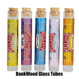 Canada DANKWOODS Tubes en verre vides Embouts en liège Cartouches Dry Herb Herbal RAW Flavors Stickers Packwoods Cigarettes Moonrock E Offre