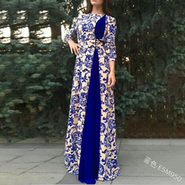 dubai islamische robe Rabatt Elegante Muslim Abaya Print Maxikleid Vestidos Cardigan Kimono Lange Robe Kleider Jubah Mittlerer Osten Eid Ramadan Dubai Islamic