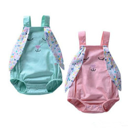 95c36e0f63e3 Easter Baby girls Rabbit ears romper cartoon infant bunny Jumpsuits 2019  summer Fashion Boutique kids Climbing clothes B11