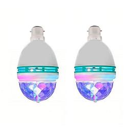 projetor estrela em movimento Desconto Atacado Lâmpada 3W Rotating LED Strobe RGB multi Mudando a cor de cristal Luz de Palco E27 B22 partido de feriado do disco da dança Bulb frete grátis