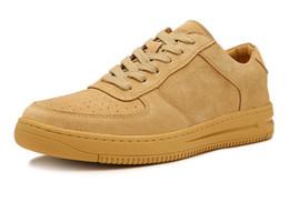 Scarpe da donna per uomo giallo scarpe da ginnastica per esterno economiche con scatole formato US5,5--11 Vendita calda da