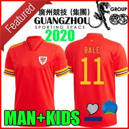 2020 camisas de gales 2020 camisas 2021 Wales camisa de futebol 20 21 BALE ALLEN James Ben Davies Wilson Camisetas homem casa seleção + miúdos do futebol topo Tailândia desconto camisas de gales